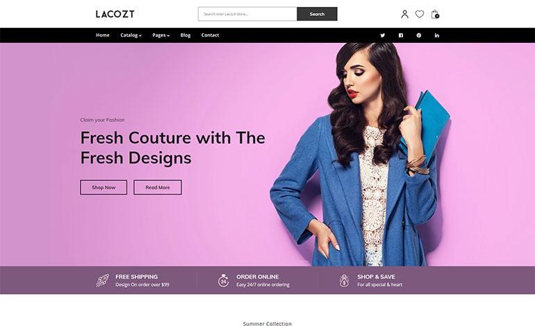 Lacozt Multipurpose Clothing and Fashion Store Shopify Theme