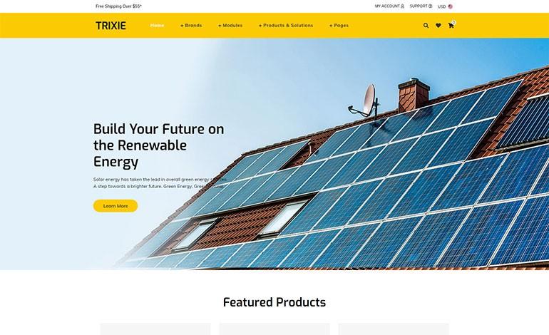 Trixe Solar Responsive Shopify Template
