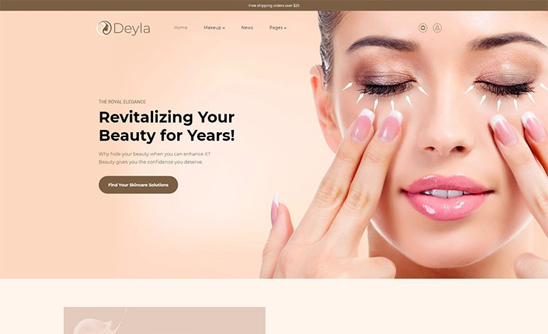 Deyla Skincare Cosmetics Shopify Theme