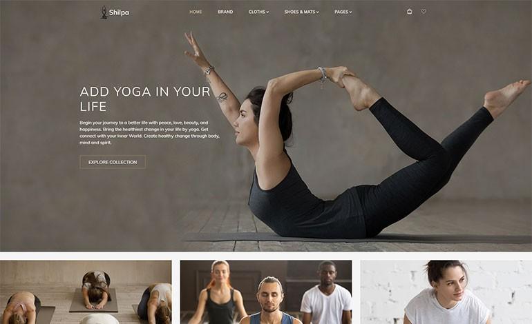 Shilpa Yoga Store  Fitness Shopify Theme