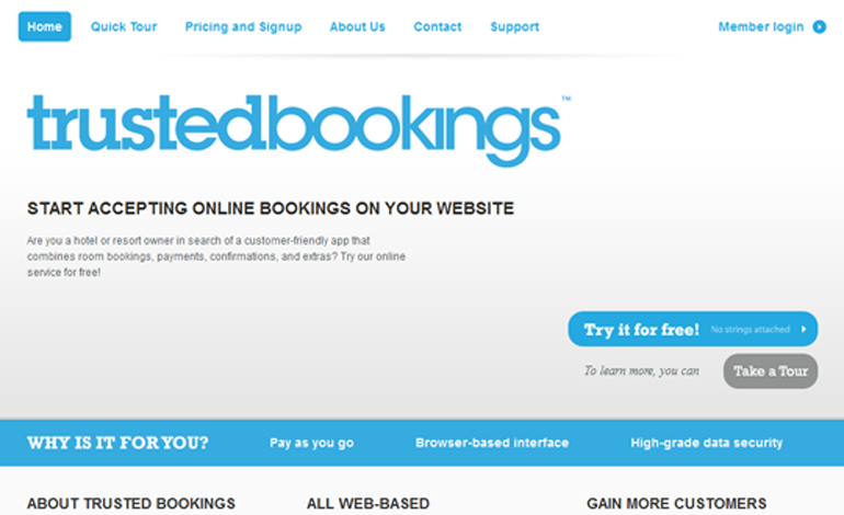 Trustedbookings   Online Bookings and Reservation Software