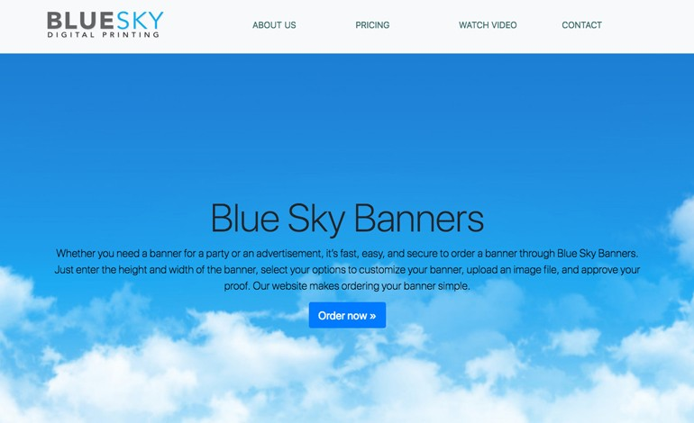Blue Sky Banners