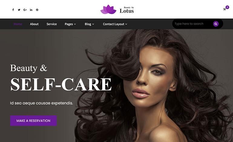 Lotus Pro Beauty Spa Salon WordPress Theme
