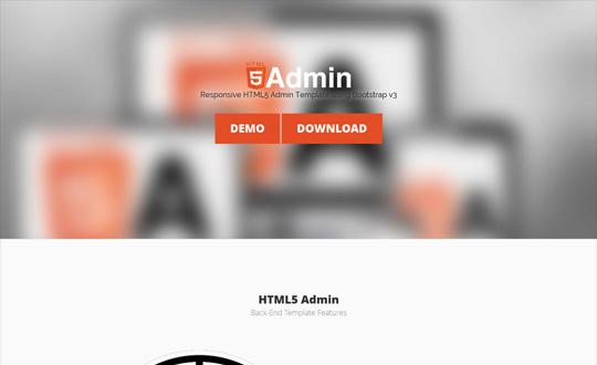 HTML5 Admin