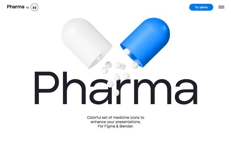 Pharmacy 3d icons