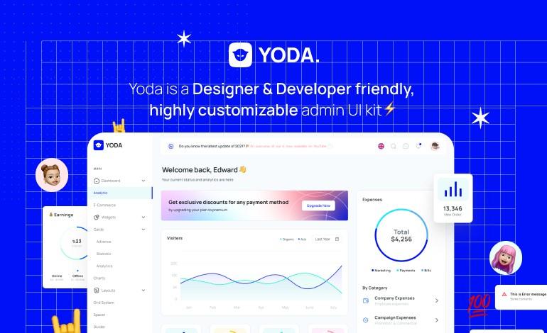Yoda Admin Template React Hooks Redux Toolkit Ant Design