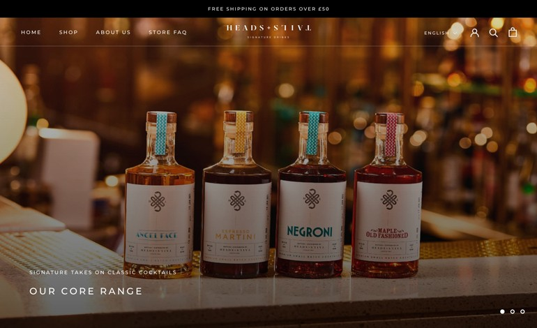 Heads and Tails Signature Drinks