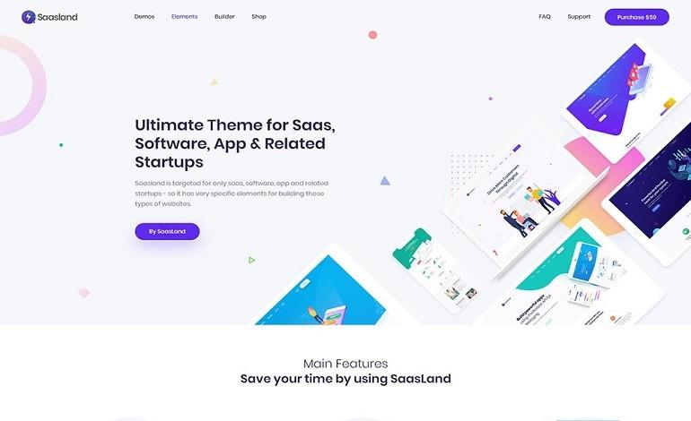 Saasland MultiPurpose WordPress Theme for Saas Startup