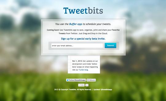 Tweetbits app