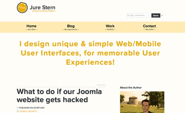 Web design blog & personal portfolio
