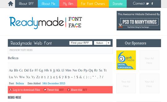 Readymade Font Face
