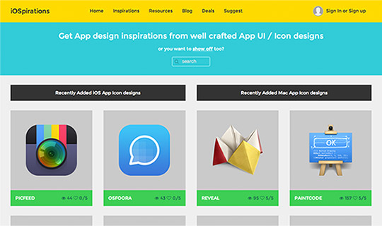 iOS Mac UI and Icon Design Inspirations Gallery