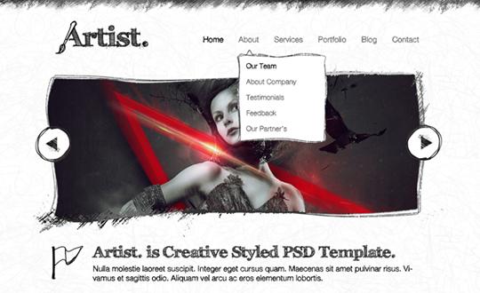 Artist Sketch Responsive HTML Template