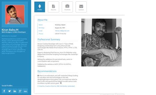 web designer Profile