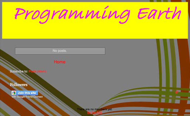 PROGRAMMING EARTH