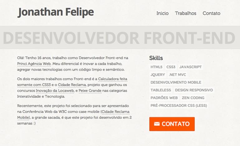 Jonathan Felipe - Desenvolvedor Front-end