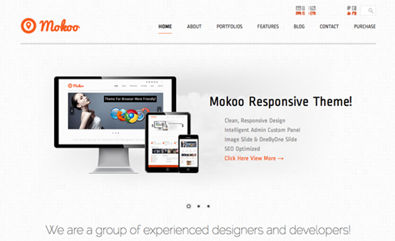 Mokoo Responsive Wordpress Theme