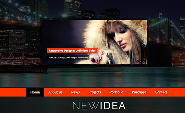 New Idea - Responsive Wordpress Theme