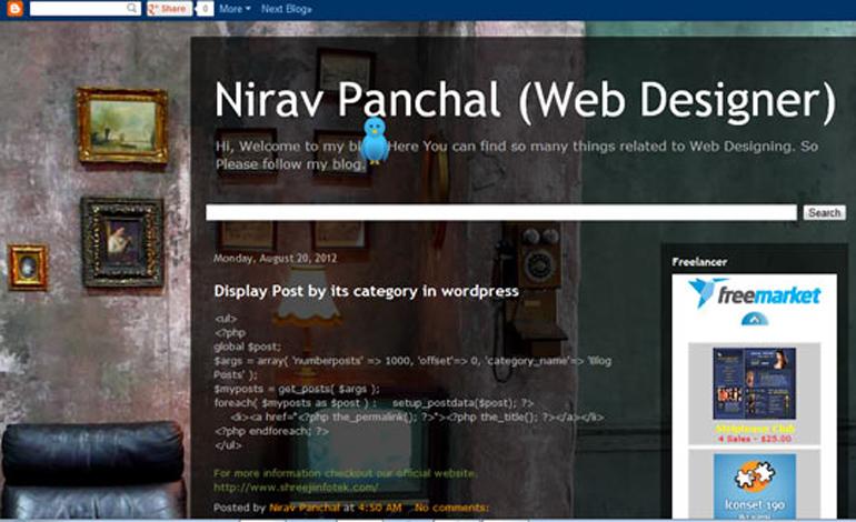 Nirav Panchal Web Designer