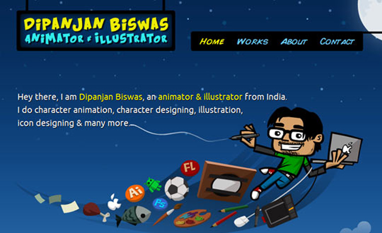 Dipanjan Biswas Animator Illustrator from India
